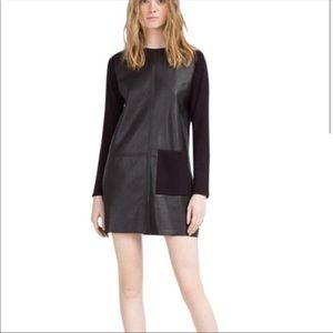 Zara Faux Leather Dress